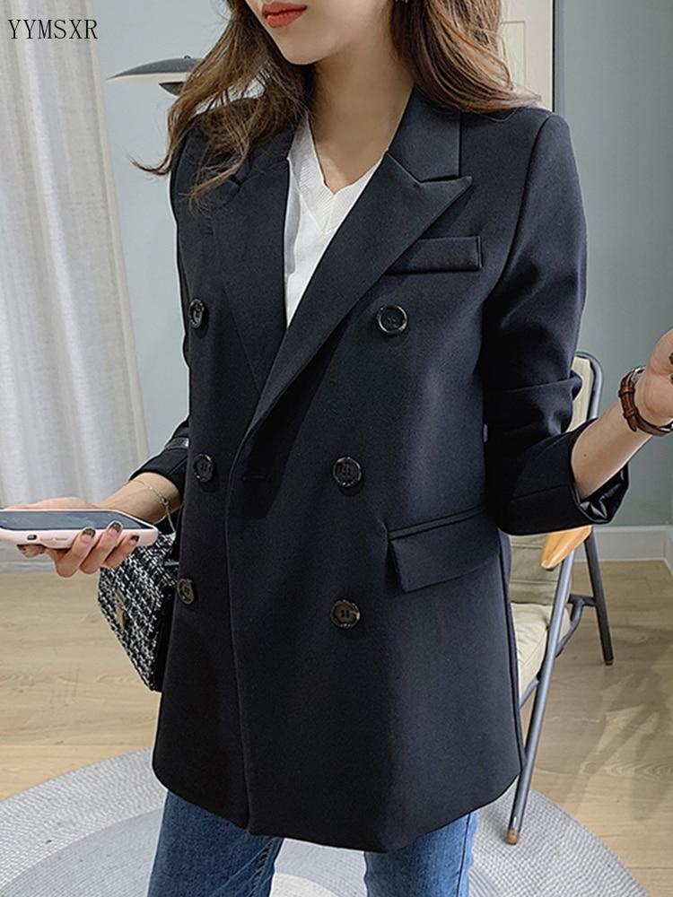 2020 spring and autumn temperament women's blazer Casual elegant lady jacket small suit feminine Casual office jacket black