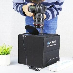 PULUZ мини складной светильник коробка светодиодная кольцевая лампа светильник фотобокс для съемок в фотостудии в наборе 12 Цветов фон USB светильник коробка для DSLR Камера