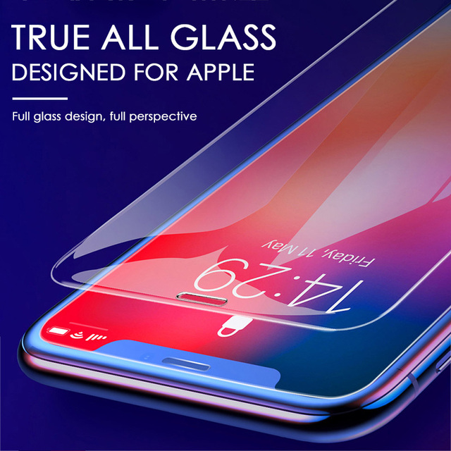 3PCS Protective Glass on the For iPhone 11 Pro X XR XS Max Tempered Screen Protector For iPhone 7 8 6 6s Plus 11 PRO Max Glass 2