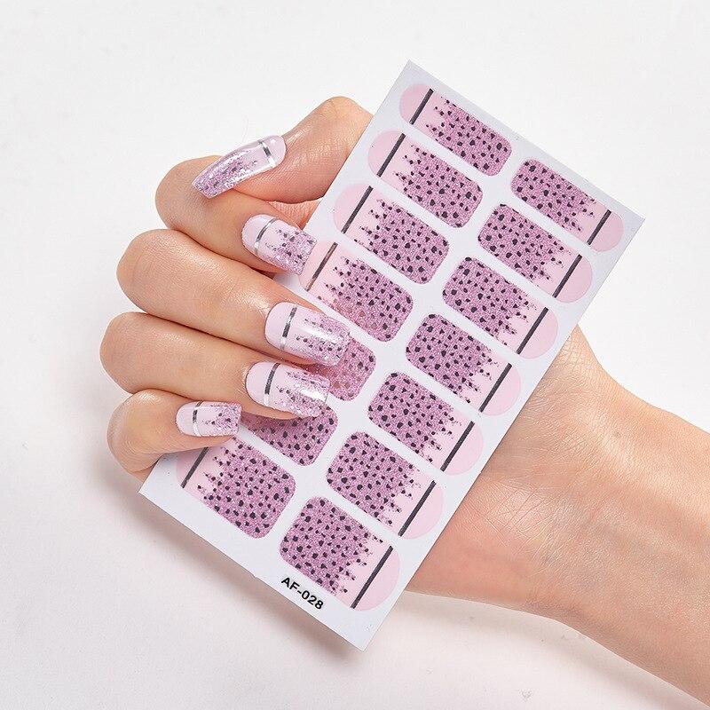 Купить дизайнерские наклейки для ногтей с полным покрытием красивые