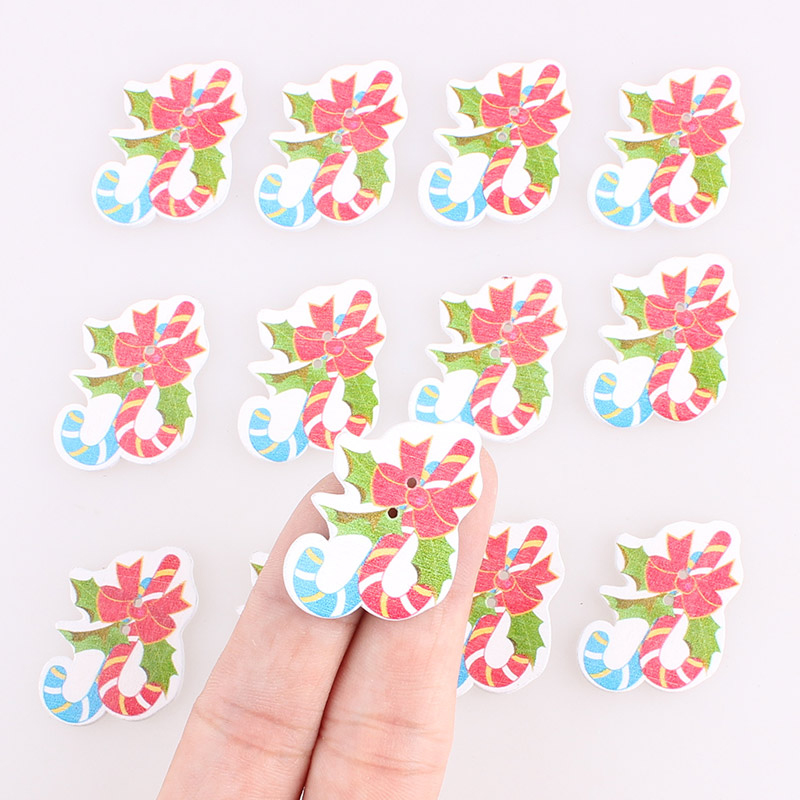 Floral Love Heart Wooden buttons Sewing 2 Holes Scrapbook Crafts 26mm