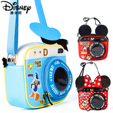 Pu-Camera-Bag Minnie Disney Duck-Handbag Shoulder Girl Mickey Kids Diagonal-Bag