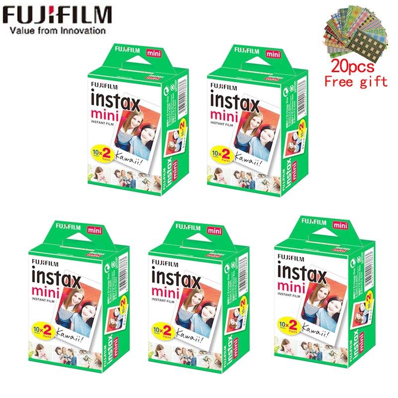 10-200 feuilles Fujifilm instax mini 9 film bord blanc 3 pouces de large film pour appareil Photo instantané mini 8 7s 25 50s 90 papier Photo