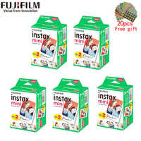 10-200 folhas fujifilm instax mini 9 filme borda branca 3 Polegada filme largo para câmera instantânea mini 8 7s 25 50s 90 papel de foto