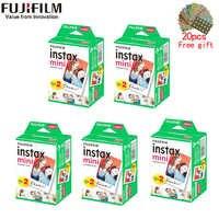 10-200 hojas Fujifilm instax mini 9 película borde blanco 3 pulgadas de ancho película para cámara instantánea mini 8 7s 25 50s 90 papel fotográfico