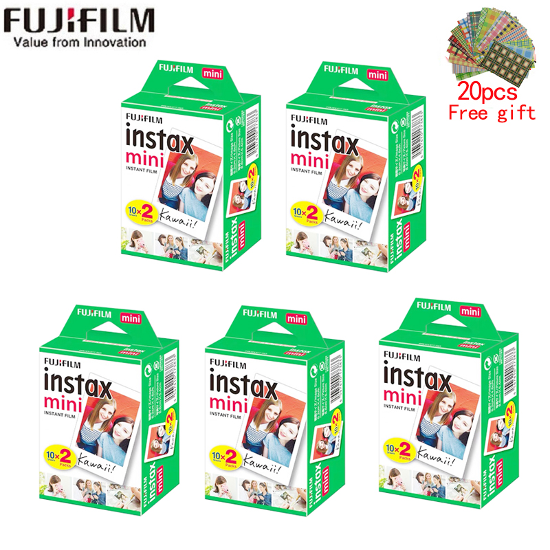 10-200 sheets Fujifilm instax mini 9 film white Edge 3 Inch wide film for Instant Camera mini 8 7s 25 50s 90 Photo paper