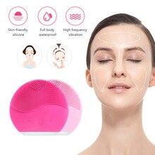Ultra-sônico elétrico usb recarregável facial limpeza rosto escova de lavagem vibração pele removedor cravo poros cleaner massagem #4