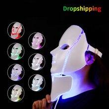Mascarilla Facial con luz LED para rejuvenecimiento de la piel, máscara Facial para terapia de fotones, estiramiento de la piel, máquina brillante