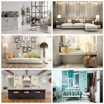 Laeacco Gray Living Room Sofa Green Landscape Window Interior Photography Background Photo Backdrop For Photo Studio Photocall interior landscape