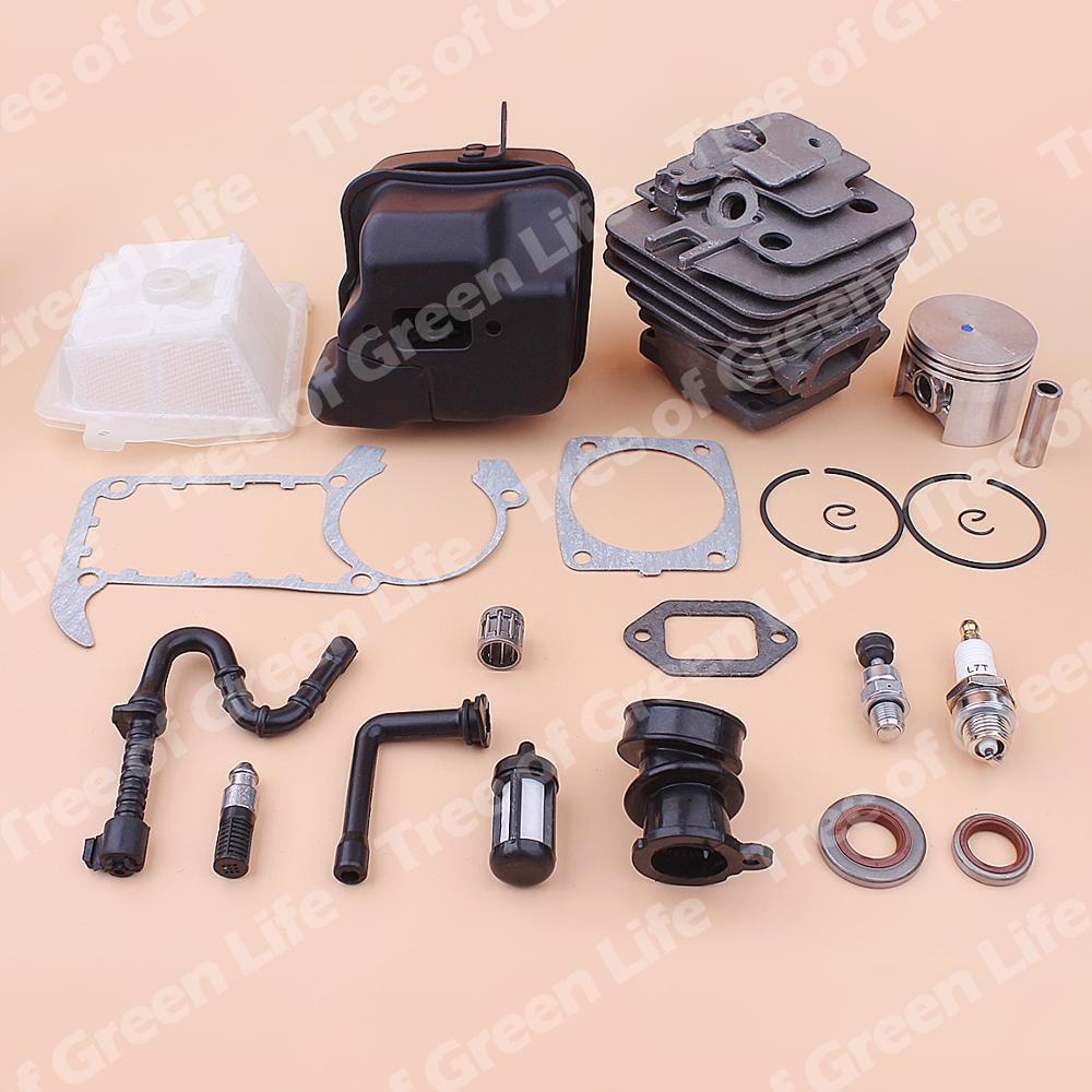 Exhaust Air Gasket Muffler 1202 020 Kit Stihl MS Fuel Filter Manifold MS361 Cylinder Line Piston For Intake 49mm 1135 361 Oil
