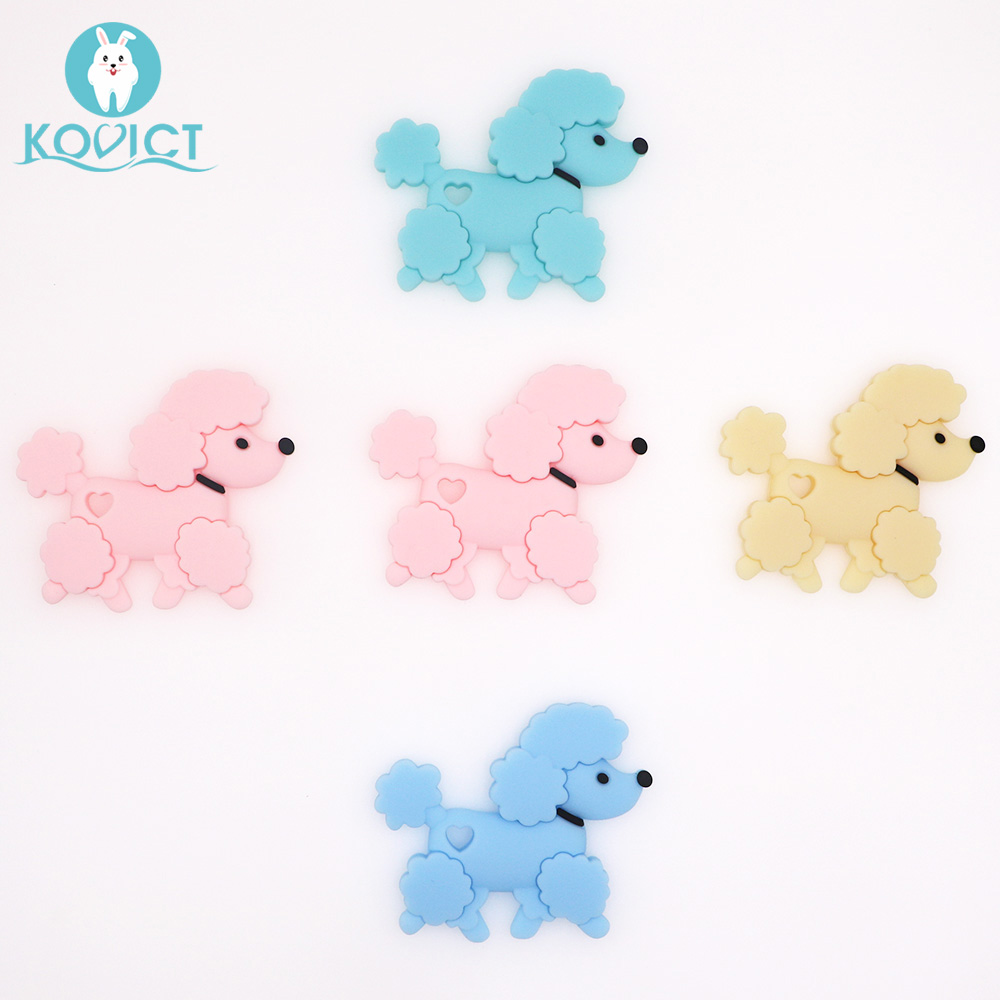 Kovict BPA Free 1PC Dog Silicone Baby Teether Rodent  Cute Baby Teething Toys Chewable Animal Shape Baby Products Nursing Gift