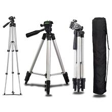 Evrensel Mini taşınabilir alüminyum tripod standı ve çanta Canon nikon kamera