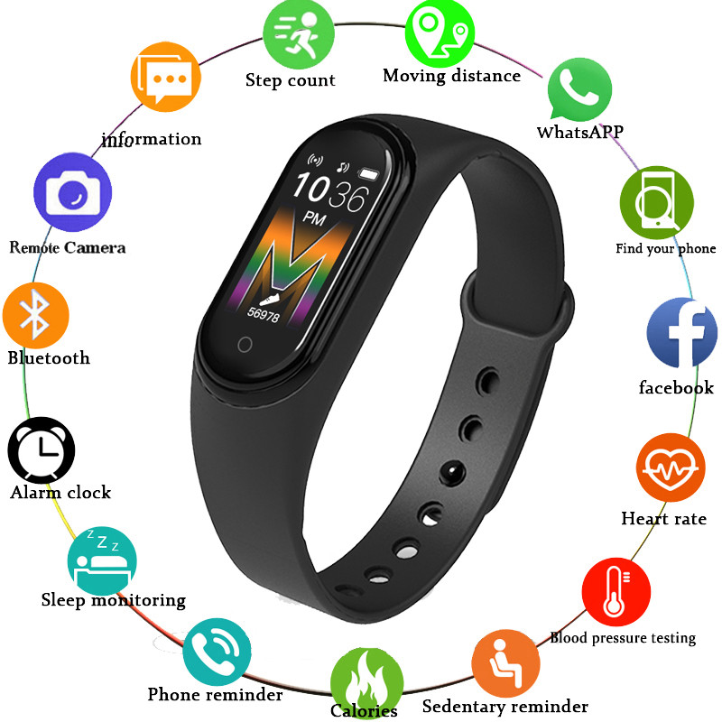 M5 Smart Bracelet Smartband IP67 Waterproof Smart Band Blood Pressure Watch Fitness Bracelet Sport Smart Band Fitness Band Reloj image