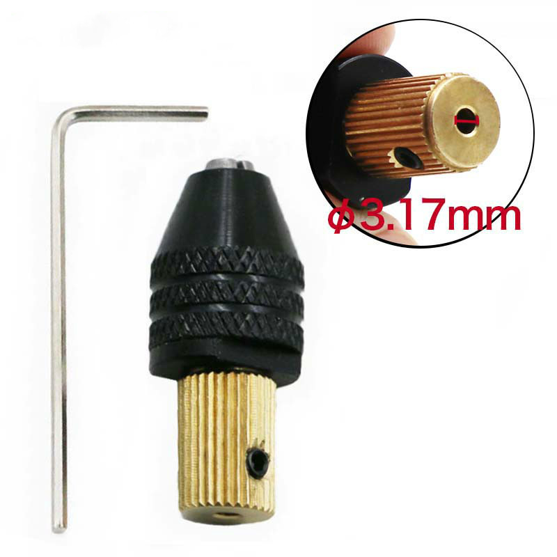 3.17mm Electric Motor Shaft Mini Chuck Fixture Clamp 0.3mm-3.5mm Small To Drill Bit Micro Chuck Fixing Device