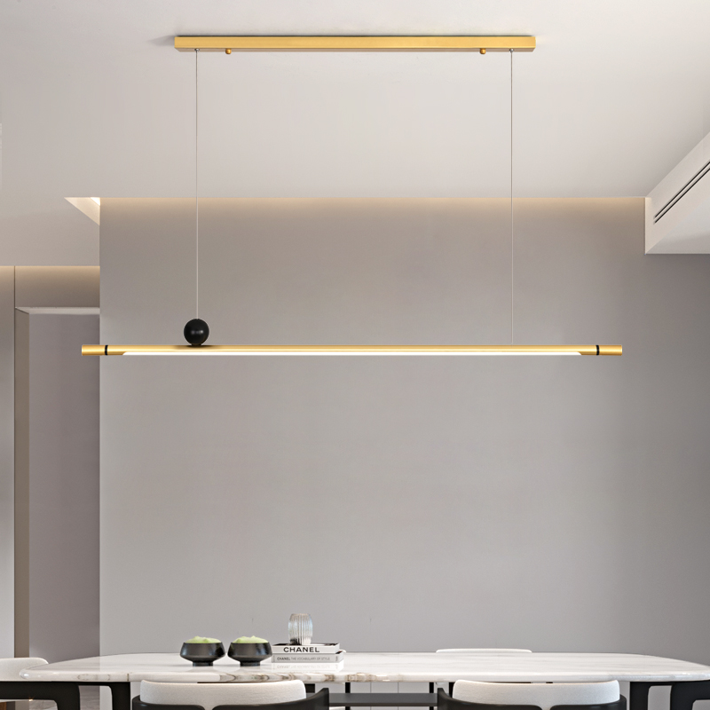 Nordic Modern Simple Restaurant Pendant Light Dining Room Creative Long Strip Led Hanglamp Indoor Kitchen Hanging Light Fixtures