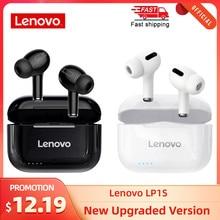 Lenovo LP1S TWS Bluetooth écouteur sport sans fil casque stéréo écouteurs HiFi musique avec micro LP1 S pour Android IOS Smartphone