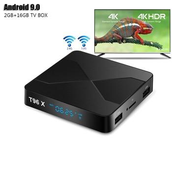 Фото - T96X Android 9.0 TV BOX AmlogicS905W Chip 2GB 16GB Smart TV BOX Quad-Core 64-bits Android 9.0 TV BOX 4k H.265 Set Top Box mxq pro 5g 4k android smart tv box quad core amlogic cpu s905w 2gb 16gb 3d android10 0 tv box 2 4 5g wifi 1080p hd media player