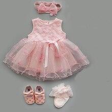 Newborn Baby Girl Dresses Clothes Princess White Christening Dress For Newborn Girl Baby Girl Dresses 3 6 9 Months