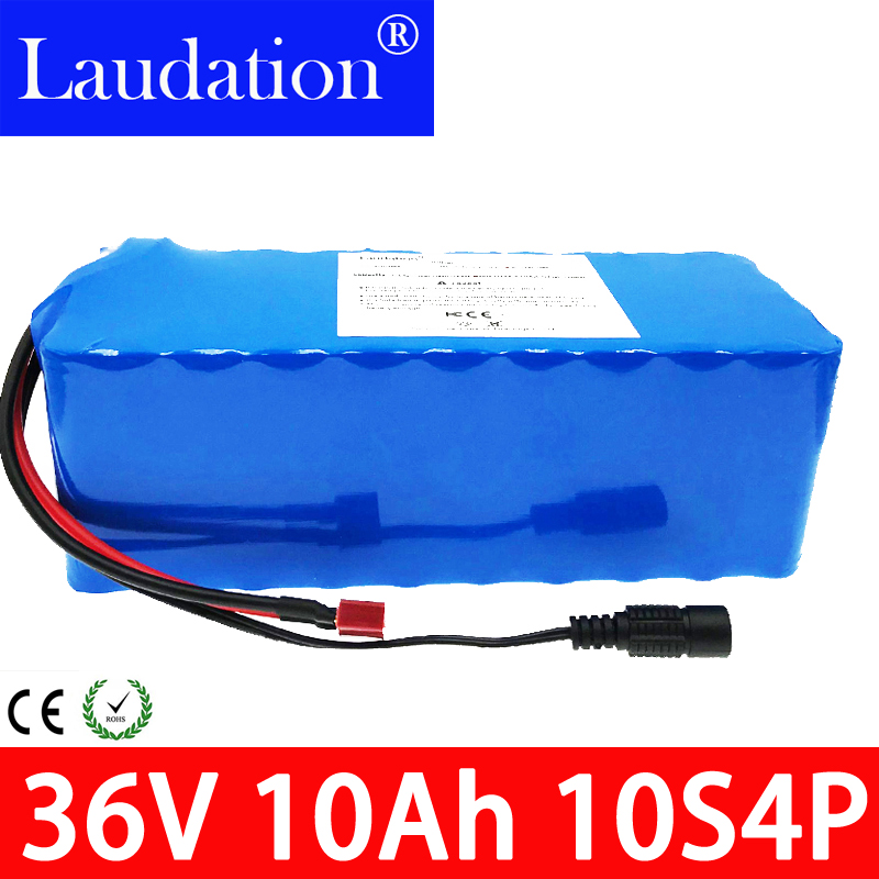36v battery 36v 10ah 18650 Li-ion Battery 10S4P 36V 10Ah 800W High Power and Capacity Motorcycle Scooter with BMS