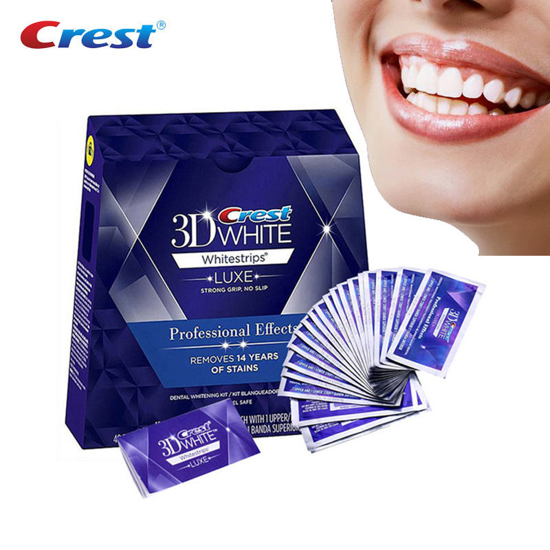 Professional 3D White Teeth Whitening Strips Professional Effects White Tooth Dental Whitening Whitestrips(China)