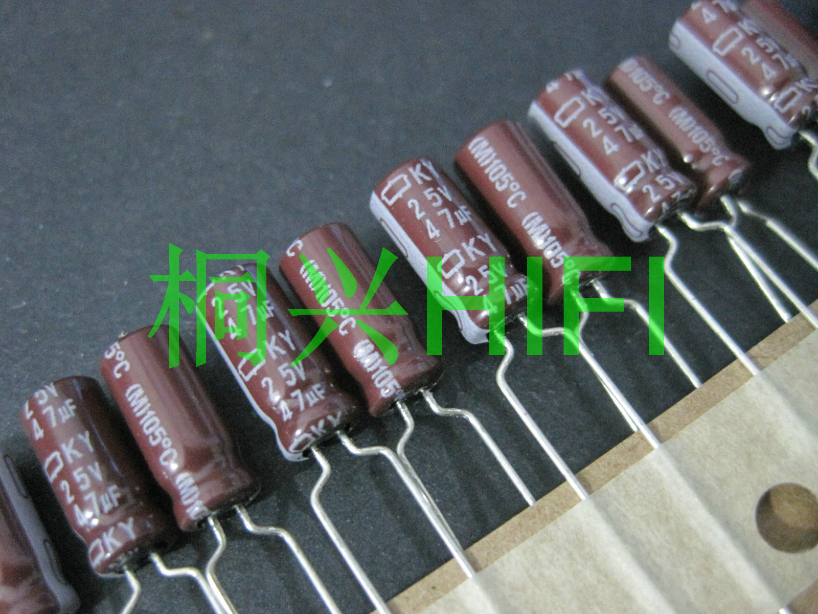 100pcs 25V 47UF 105c electrolytic capacitor 25V47UF 5x11mm