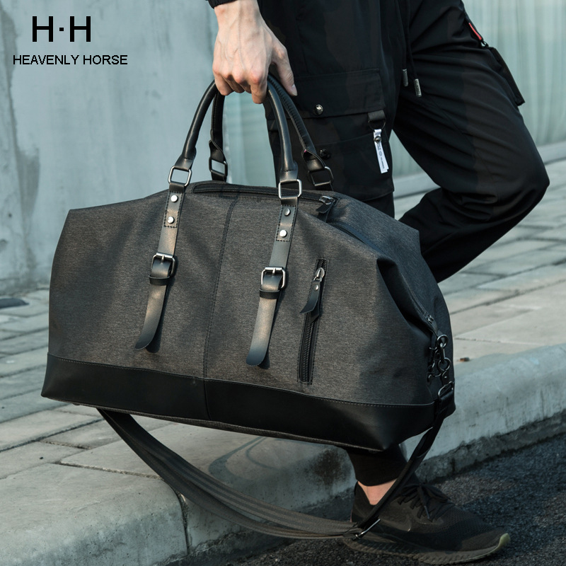 New Travel Luggage Bags High Capacity Bag Water Resistant Oxford Men Bag For Trip Black Casual Available Big Space Bag Travel