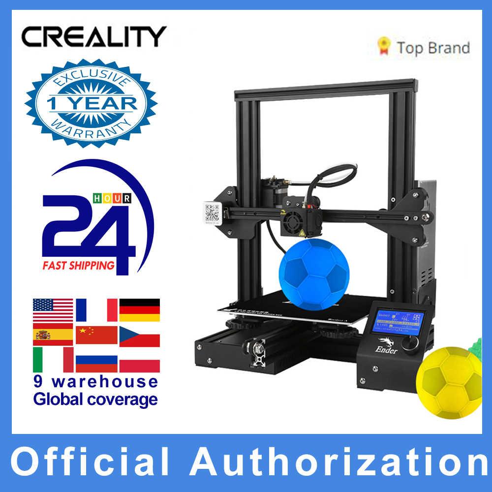 Creality 3D חדש אנדר 3 / Ender-3 פרו DIY 3D מדפסת דרוקר impresora 3D עצמי להרכיב 220*220*250mm MeanWell כוח במלאי