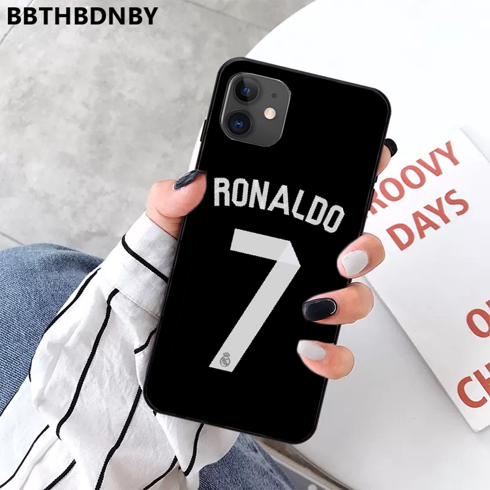 Ristiano Ronaldo CR7 TPU Lembut Silicone Ponsel Case PENUTUP UNTUK Iphone 11 Pro Max X Xs Xr 7 8 plus 6 6S 5 5S 5se Shell