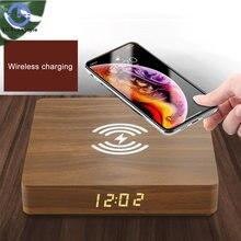 Деревянный светодиодный Электрический будильник настольные часы