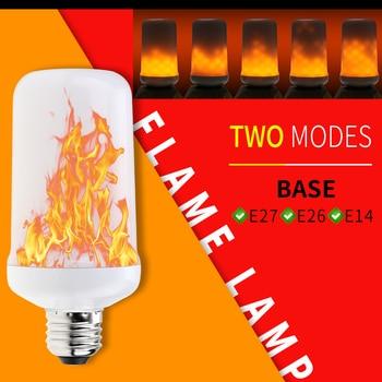 E27 LED 3W Candle Light E14 Flame Effect Lamp Led 220V E26 Creative Light Bulb 5W Simulation Fire Flickering Ampoule 9W 85-265V e27 led flame effect light bulbs e14 220v simulation fire burning lamp e26 5w led 12v flickering emulation creative light bulb