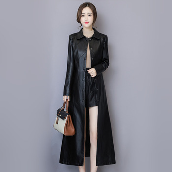 sheepskin coat isaco New Women Sheepskin Coat Autumn Winter 2019 Fashion Keep Warm Long Jacket Thicken Genuine Leather Coat Suede Outerwear Female