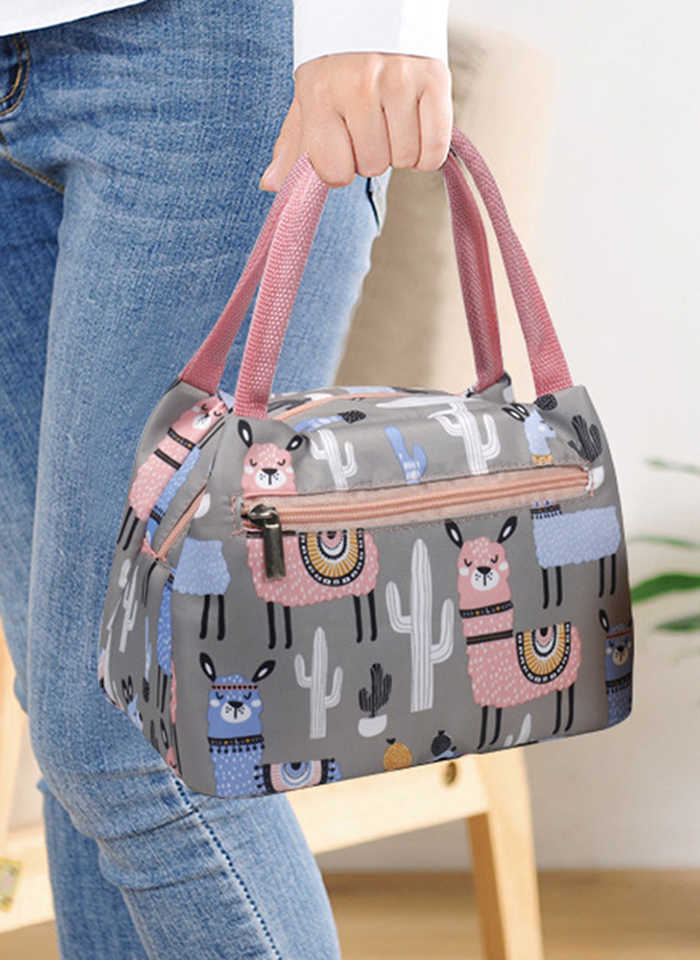 Women Zipper Portable Insulation Storage Bag Cute Cartoon Character Design Waterproof Anti Fouling Easy to Carry With Aluminum in Storage Bags from Home Garden