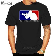Major League Infidel Military Usmc Marines Special Ops Black T-shirt Size S - 3xl Funny T Shirt Men