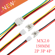 Connector-Plug MX2.0 4P Male Female with Wire 150MM 5pairs 2P 3P DIY