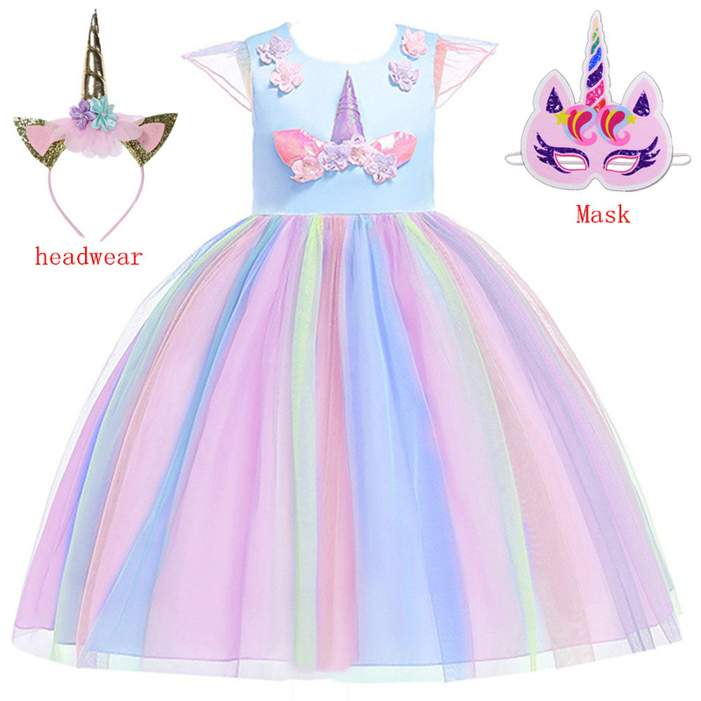 2019 Children Girls Princess Unicorn Party Cosplay Costume Moana Lol Dress Costume For Halloween Costumes For Kids Girls Gifts