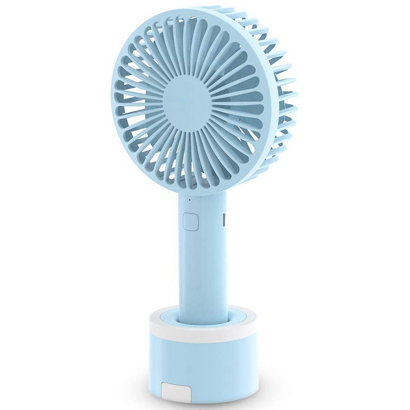 Color : Brown, Size : One Size Portable Personal USB Fan Handheld Portable Silent Fan USB Charging for Office Room Outdoor Household Traveling