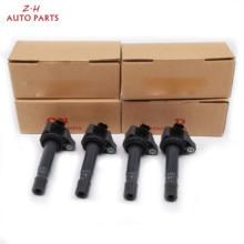 цена на New Car Engine Ignition Coil 30520-RNA-A01 4PCS For Honda Civic Accord CR-V City Step WGN Ciimo 1.8L 2.0L 099700101 UF582 C1580
