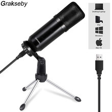 USB Condenser Microphone For Laptop Windows Cardioid Studio Recording Vocals Voice Over,YouTube bm 800 mic gaming Mikrofon bm800