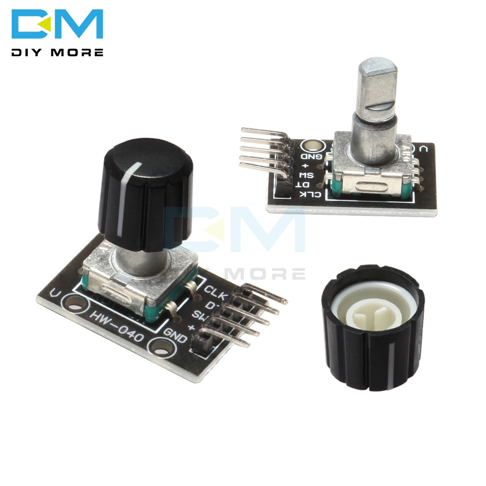 KY-040 360 Degrees Rotary Switch Encoder Module With 15x13.5 Mm Potentiometer Half Shaft Hole Knob Caps For Arduino