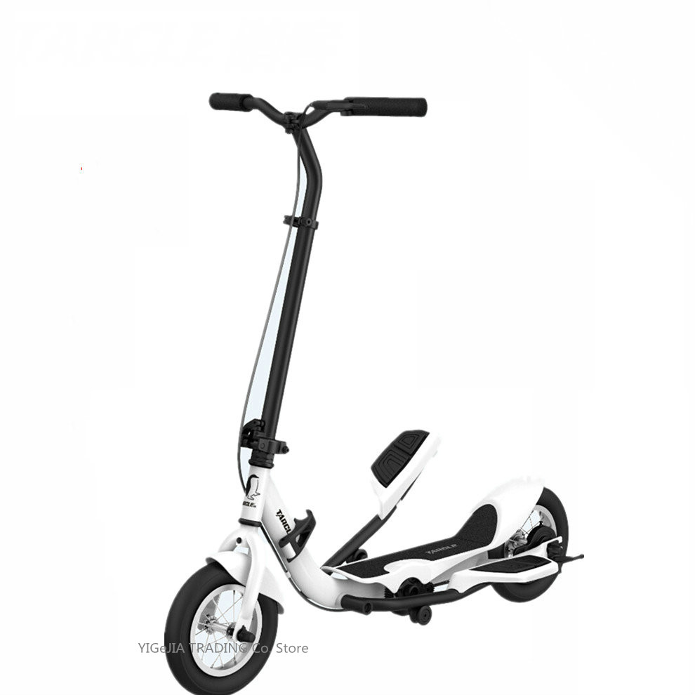 TARCLE 10 Inch Air Wheel Pedal Fold Scooter Fitness Stepper Carbon Swing Scooter With Dual Pedal Action