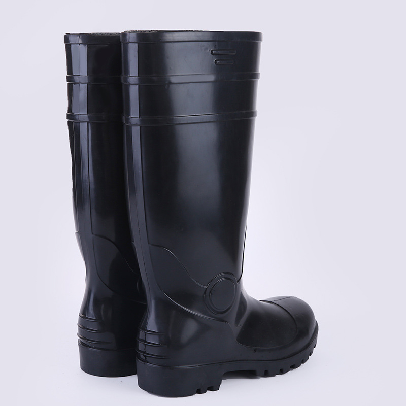 Labor Safety Rain Shoes Boots  Customizable Men Rain Boots Steel Top Steel Bottom Industry Mine Rain Boots Smashing Anti Punctu