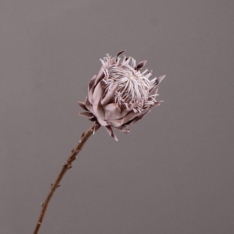 Flores artificiales Vintage de estilo rústico, flores artificiales de decoración para el hogar, 1 pieza, flores de exhibición hermosas secas para el rey Protea
