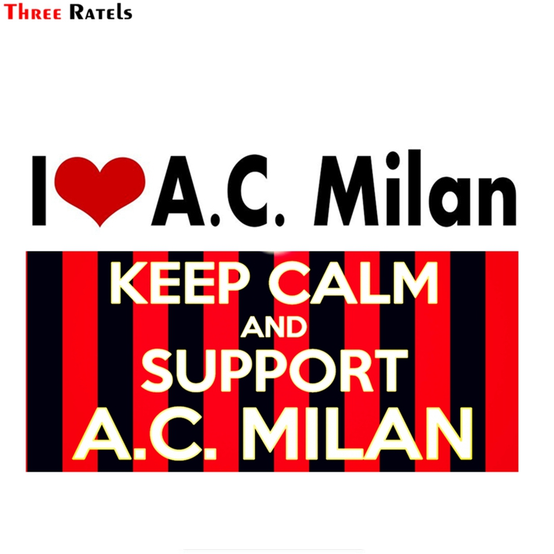 Three Ratels FTC-830# 16X12CM A.C Milan I Love A.C. Milan Sticker Decal For Car Laptop Luggage Skateboard Motorcycle Decal