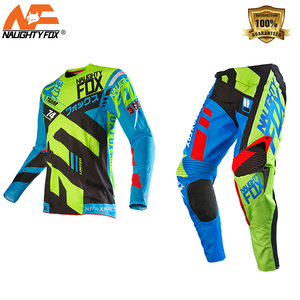 NAUGHTY Fox 360 Divizion Full Set Jersey Pants Combo MX Dirt Bike Off-road Racing Gear Set Off-Road Mountain Bike suit