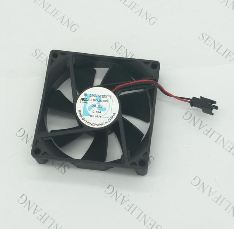 Free Shipping RDL8020S DC12V 0.13A 80*80*20MM 2 Wire Cooling Fan