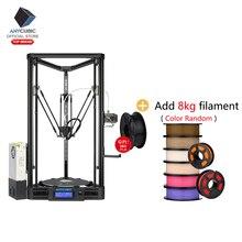 ANYCUBIC Kossel drukarka 3D Impresora 3D automatyczna platforma koło pasowe prowadnica liniowa Plus pulpit zestaw Diy wysokiej jakości