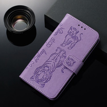 Embossed  Flip Cute Tiger Cat Case for Samsung Galaxy M10 M20 M30 M40 Wallet PU Leather For M 10 20 30 40