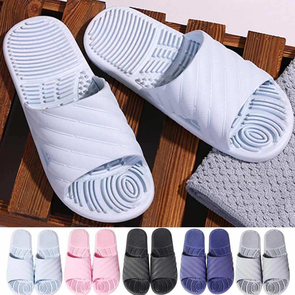Verão interior hoom chinelos de assoalho do banheiro homens sliders sandálias casais sapatos resistentes chinelos 2020 masculino flip flop sapatos loafer