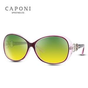 Image 4 - Женские поляризационные солнцезащитные очки CAPONI, оверсайз солнцезащитные очки в форме бабочки для вождения днем и ночью, RY2115