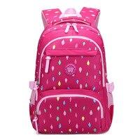 Middle School Backpack Bag Colorful Printed Pink Backpack for Girl School Backpack Student Bookbag